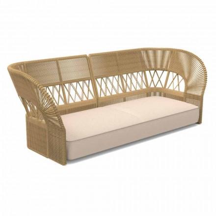Canapé de jardin trois places au design moderne - Cliff Decò by Talenti