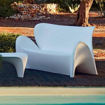 Canapé de salon extérieur ou intérieur design en plastique coloré - Lily par Myyour