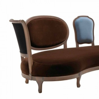 Canapé design de luxe, 5 dos en bois massif, fabriqué en Italie, Manno