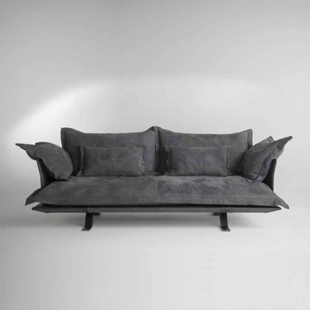 Canapé design moderne en cuir Shita, 170,220 ou 250 cm