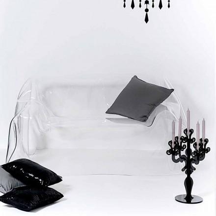 Canapé de design en plexiglas transparent Jolly, fait en Italie