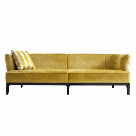 Canapé de design italien en bois de hêtre Grilli Kipling made Italy
