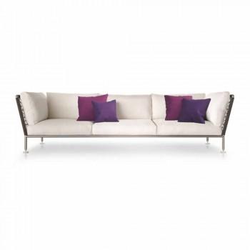 Canapé d'extérieur au design moderne en tissu blanc Fabriqué en Italie - Ontario