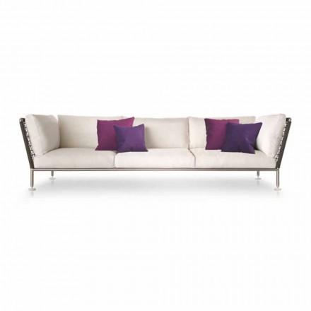 Canapé d'extérieur au design moderne en tissu Made in Italy - Ontario