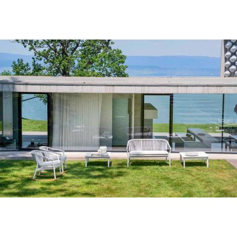 Canapé deux places empilable de jardin en aluminium et tissu - Smart By Varaschin