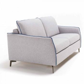 Canapé deux places design moderne L.145 cm imitation cuir / tissu Erica