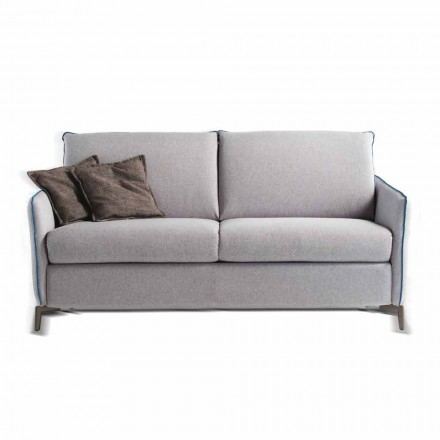 Canapé design moderne italien L.145cm en écocuir ou tissu Erica