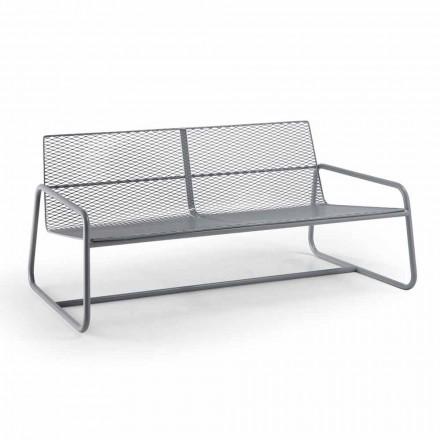 Canapé en métal pour le jardin moderne de haute qualité Made in Italy - Karol