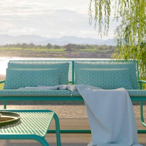 Canapé en métal pour le jardin, design moderne en différentes couleurs - Karol