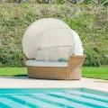 Canapé-lit de jardin Hector, tressé à la main, de design moderne