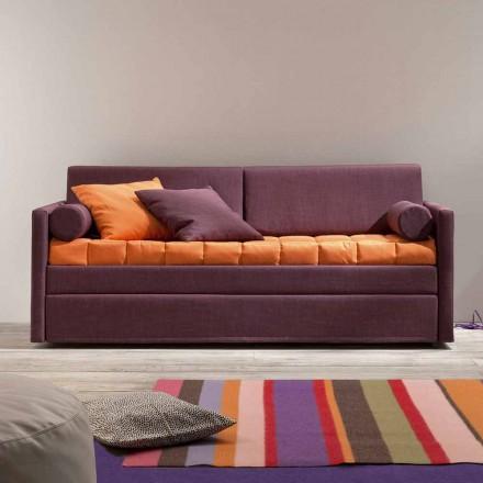 Canapé lit superposé design recouvert de tissu Made in Italy - Gretel