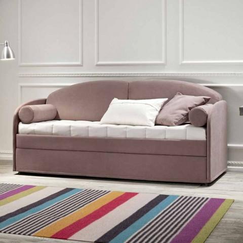 Canapé-lit superposé moderne en tissu marron fabriqué en Italie - Pont
