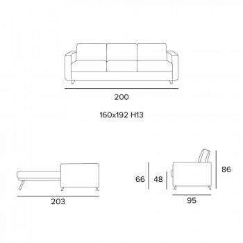 Canapé-lit design moderne en tissu fabriqué en Italie Filippo