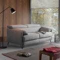 Canapé-lit en tissu déhoussable de design fait en Italie Vittorio