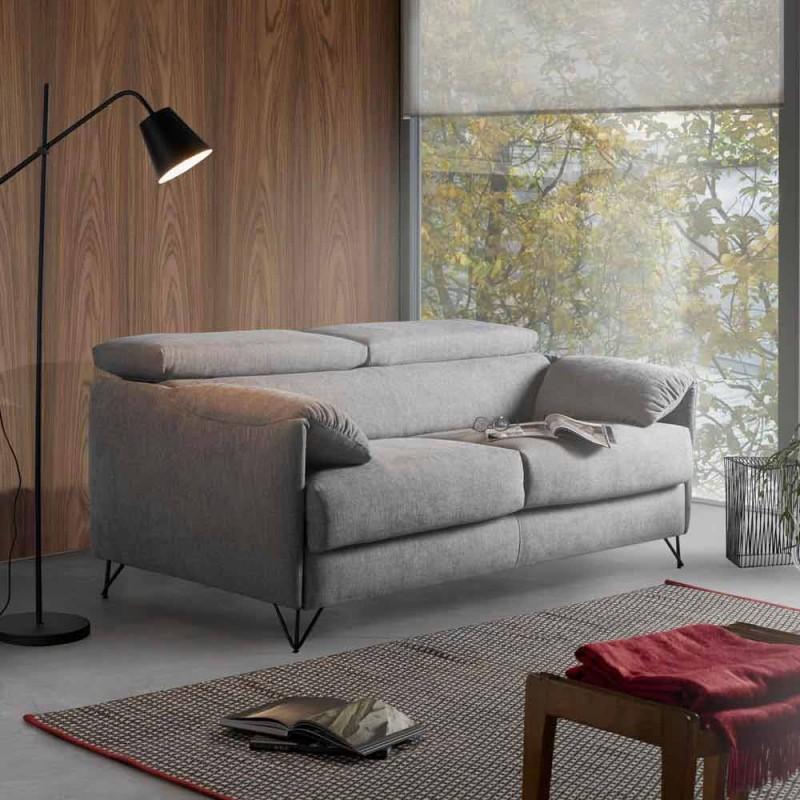Canapé-lit en tissu amovible réalisé en Italie Vittorio