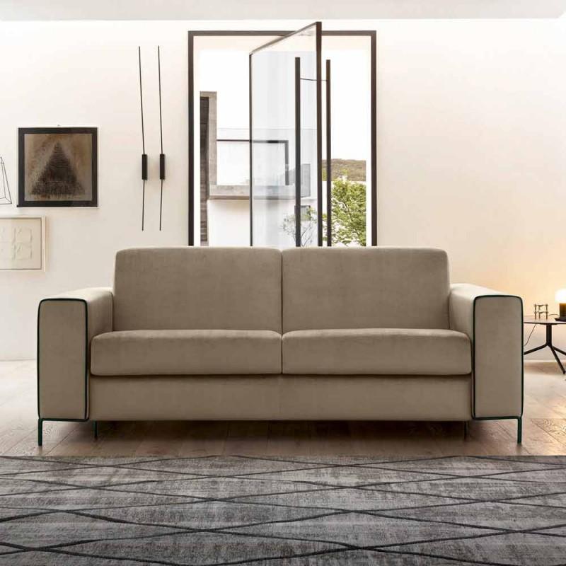 Canapé-lit moderne en tissu avec pieds en métal fabriqué en Italie - Tulipano