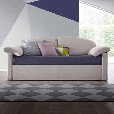 Canapé-lit moderne rembourré en tissu bicolore fabriqué en Italie - Kayla
