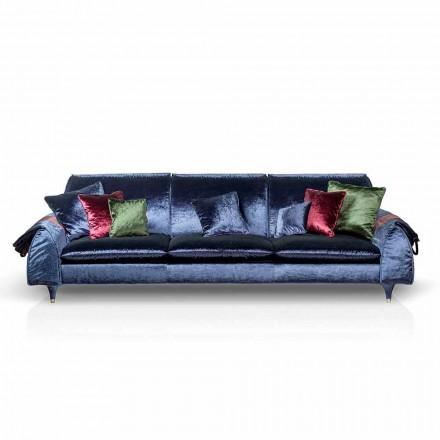 Canapé linéaire en tissu avec accoudoirs porte-objets Axel