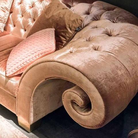 Canapé linéaire en tissu classique Baloo matelassée travaillées