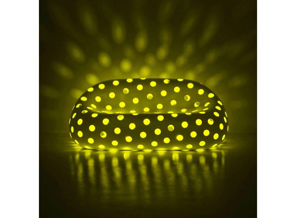 Canapé d'extérieur lumineux en polyéthylène avec LED Made in Italy - Asso