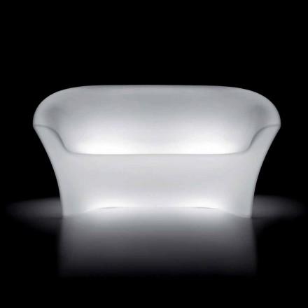 Canapé d'extérieur lumineux en polyéthylène avec éclairage LED Made in Italy - Conda