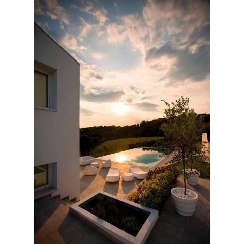 Canapé d'extérieur moderne en polyéthylène design Made in Italy - Ervin