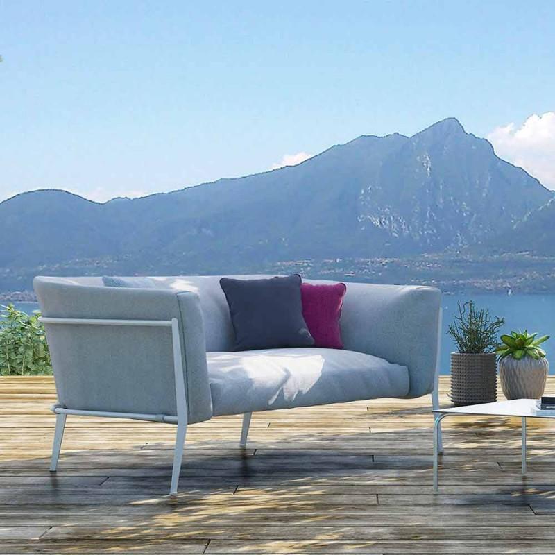 Canapé moderne pour design amovible extérieur ou intérieur fabriqué en Italie - Carmine