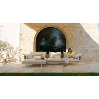 Canapé d'extérieur modulaire central 2 places - Cruise Alu by Talenti