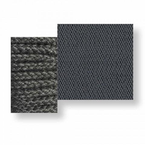 Canapé d'extérieur central modulable en tissu et corde - Cliff Decò by Talenti