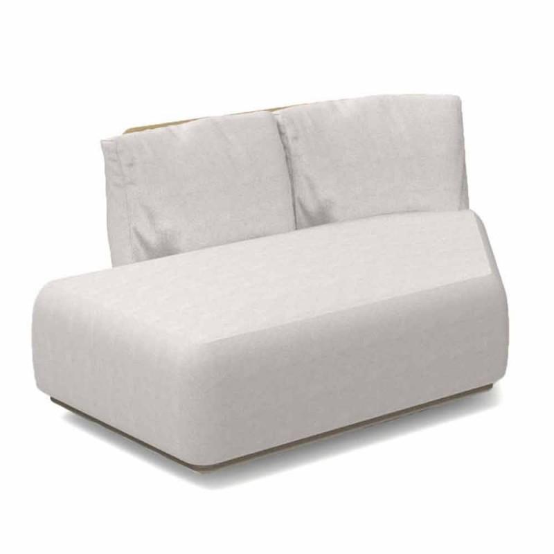 Canapé modulable oblique droit pour extérieur en aluminium et tissu - Scacco Talenti