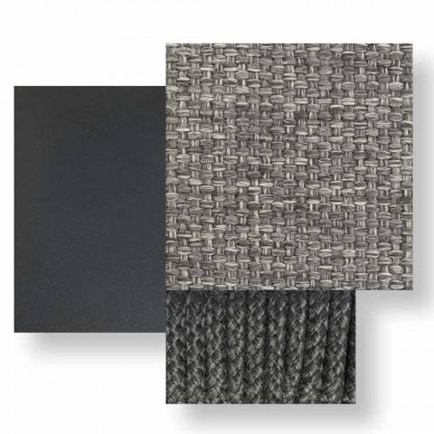 Canapé modulable oblique gauche pour extérieur en aluminium et tissu - Scacco Talenti