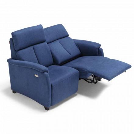 Canapé motorisé 2 places, 1 assise électrique, design moderne Gelso
