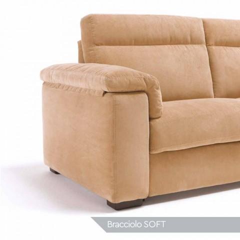 Canapé 2 places motorisé avec 1 Lilia assis électrique, fabriqué en Italie