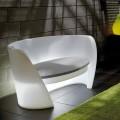 Canapé d'intérieur design en polyéthylène Slide Rap, fabriqué en Italie