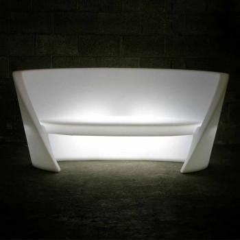 Canapé Slide Rap design d'intérieur en polyéthylène fabriqué en Italie