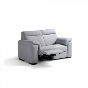 Canapé de relaxation électrique 2 places, 2 chaises Lilia électriques, made in Italy