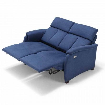 Canapé moderne relaxation, 2 places 2 assises électriques, Gelso