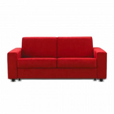 Canapé design moderne 3 places écocuir/tissu produit en Italie Mora