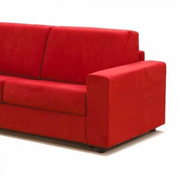 Trois places canapé simili cuir design moderne / tissu fabriqué en Italie Mora