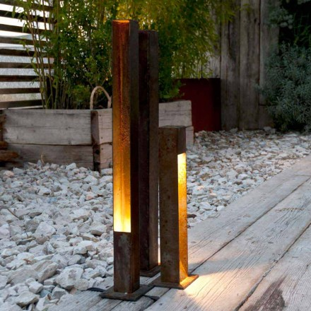 Projecteur d'extérieur Artisan en finition Iron Corten Made in Italy - Sparta