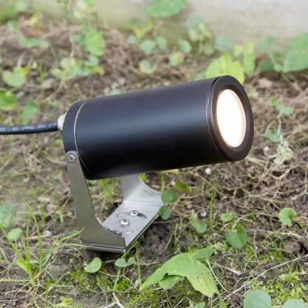 Spot de jardin en aluminium anodisé noir avec LED Made in Italy - Forla