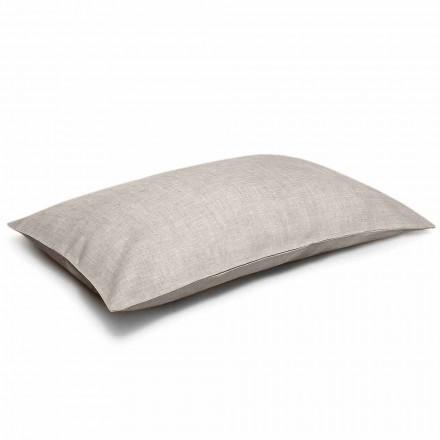 Taie d'oreiller de lit en lin naturel pur Made in Italy - Blessy