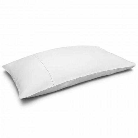 Taie d'oreiller de lit en pur lin blanc crème Made in Italy - Chiana