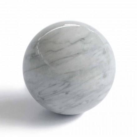 Presse-papier boule moderne en marbre gris Bardiglio fabriqué en Italie - Sphère