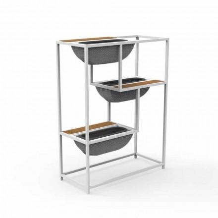 Jardinière rectangulaire moderne en aluminium design de luxe - Jackie par Talenti