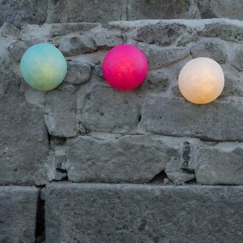 Applique d'extérieur In-es.artdesign Button Out en nébulite de couleur