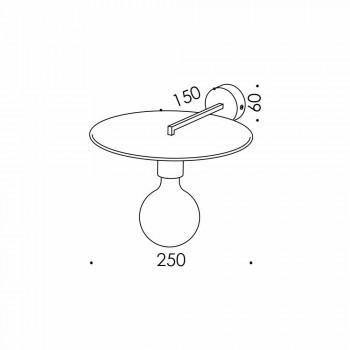 Applique artisanale en fer noir ou finition Corten Made in Italy - Ufo