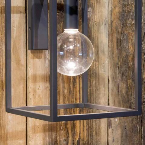 Applique d'extérieur en fer et aluminium avec LED Made in Italy - Cubola