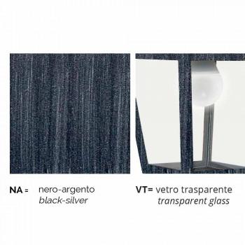 Applique de jardin en aluminium fabriqué en Italie, Aquilina