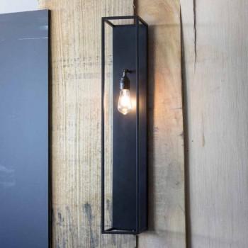 Applique murale moderne en fer noir fabriquée en Italie - Brina